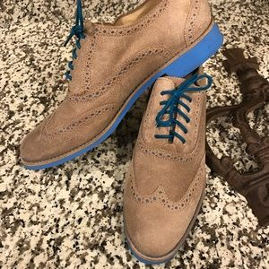 Classic Cole Haan Oxford with blue laces